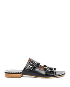 Bernardo - Tobi Double-Strap Leather Slides