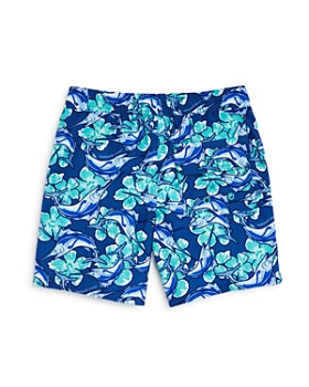 Vineyard Vines - Boys' Marlin Flower Chappy Swim Trunks - Little Kid, Big Kid