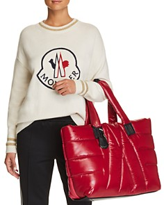 Moncler Embroidered Logo Sweater, Striped Trousers & Powder Tote - Bloomingdale's_0