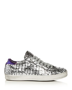 P448 - Women's A8 John Croc Print Leather Lace Up Sneakers