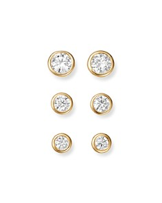 Bloomingdale's - Diamond Bezel Stud Earrings in 14K Yellow Gold, .33-1.0 ct. t.w. - 100% Exclusive
