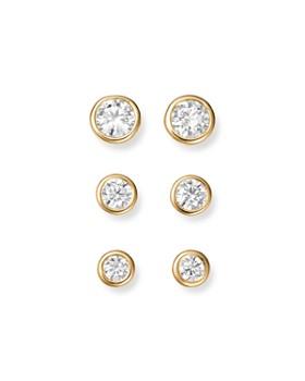 Bloomingdale S Diamond Bezel Stud Earrings In 14k Yellow Gold 33 1 0 Ct