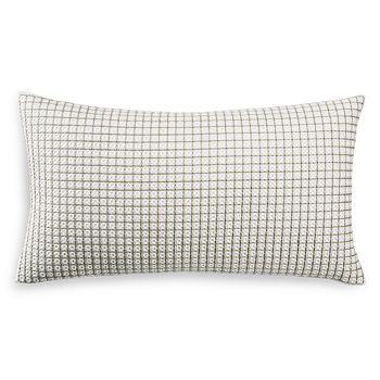 "Hudson Park Collection - Seed Stitch Trellis Decorative Pillow, 12"" x 22"" - 100% Exclusive"