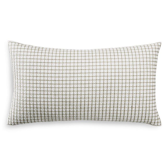 "Hudson Park Collection - Seed Stitch Trellis Decorative Pillow, 12"" x 22"" - 100% Exclusive"