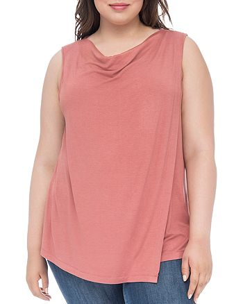 B Collection by Bobeau Curvy - Nevaeh Cowl Overlay Tank
