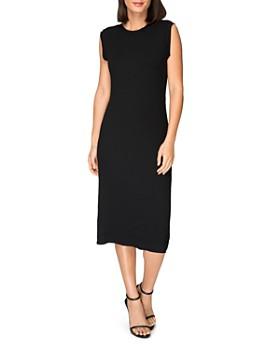 B Collection by Bobeau - Lyla Ribbed Twist-Back Midi Dress