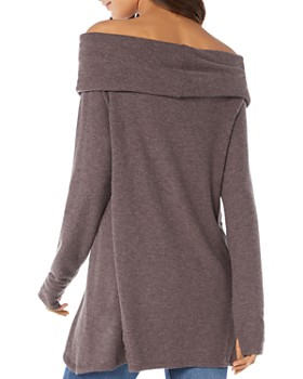 Michael Stars - Off-the-Shoulder Thumbhole Top