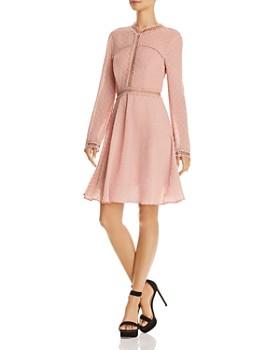 Bardot - Cherie Long-Sleeve Embroidered Dress