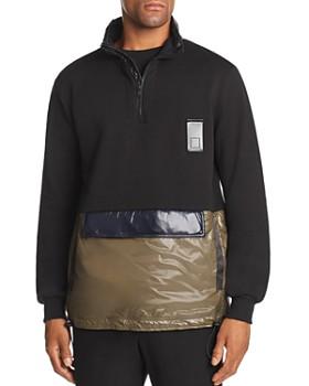 Letasca - Iconic Mixed-Media Color-Block Sweatshirt