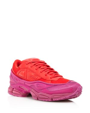 ADIDAS BY RAF SIMONS Raf Simons For Adidas Women'S Ozweego Leather Lace-Up Sneakers, Glory/Pink