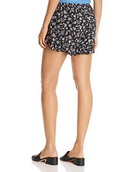 AQUA - Ruffle-Trim Floral-Print Shorts - 100% Exclusive