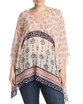 VINCE CAMUTO Plus - Tile Wildflower Poncho
