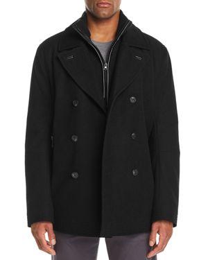 MARC NEW YORK Men'S Emmett Wool Melton Peacoat in Black