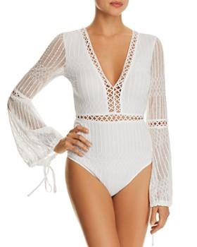 Tiger Mist - Alaska Crochet-Lace Bodysuit