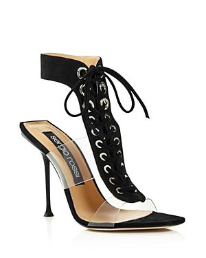 Sergio Rossi Women's Suede High Heel Sandals
