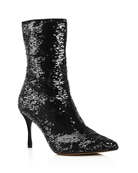 2fb86de687c8 Tabitha Simmons - Women's Wendie Pointed Toe Sequin Booties ...