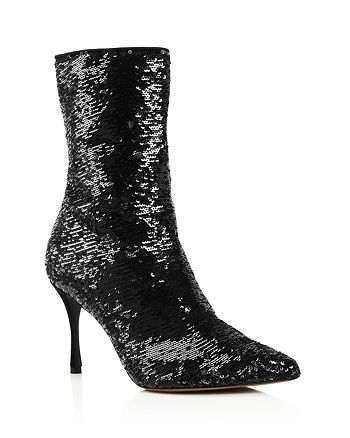 Tabitha Simmons - Women's Wendie Pointed Toe Sequin Booties