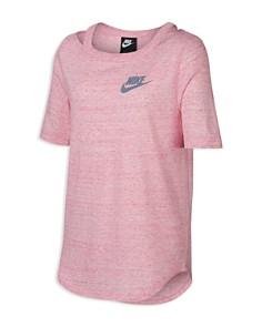 Nike - Girls' Heathered Cut-Out Tee - Big Kid