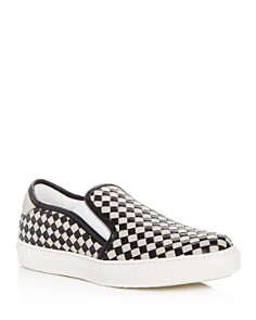 Bottega Veneta - Men's Woven Leather Slip-On Sneakers