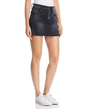 Hudson - Viper Pierced Denim Mini Skirt in Harrah
