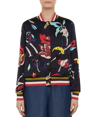 COLOUR BY NUMBERS YAVIS PRINTED BOMBER JACKET