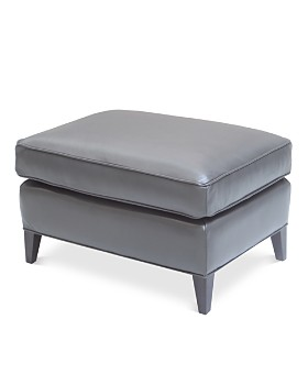 Bloomingdale's Artisan Collection - Charlotte Leather Ottoman - 100% Exclusive