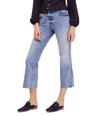 Rita Crop Flare Jeans In Blue