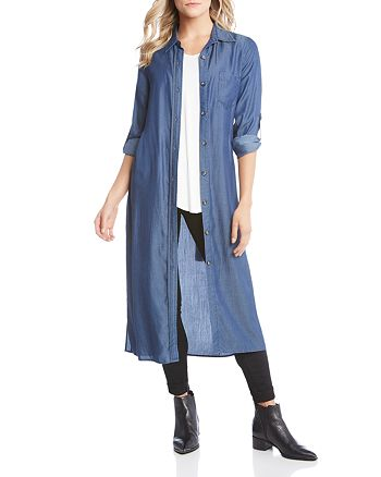 Karen Kane - Chambray Shirt Dress