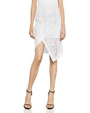 Bcbgmaxazria Asymmetric Lace Pencil Skirt