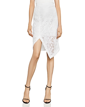 Bcbgmaxazria Asymmetric Lace Pencil Skirt