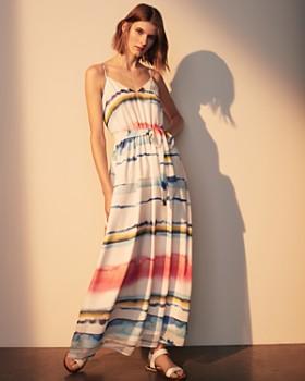 CATHERINE Catherine Malandrino - Cody Watercolor Stripe Maxi Dress