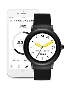 MARC JACOBS - Riley Black Strap Touchscreen Watch, 44mm