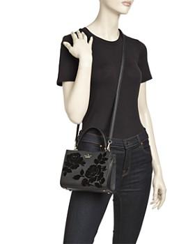 kate spade new york - Cameron Street Sarah Velvet Roses Small Leather Crossbody - 100% Exclusive