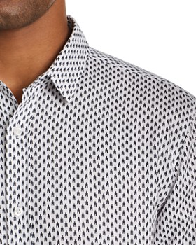 HUGO - Elisha Geometric-Print Slim Fit Shirt