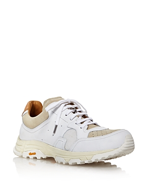 Pairs in Paris Women's Round-Toe Lace Up Leather & Suede Dad Sneakers