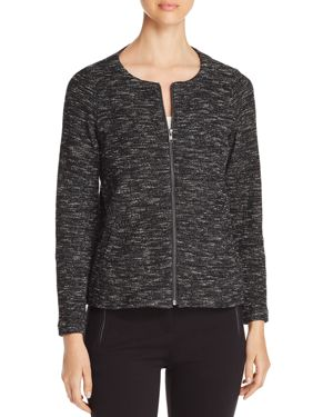 LIGHTWEIGHT MELANGE KNIT JACKET