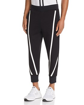 BLACKBARRETT by Neil Barrett - Tape-Stripe Cropped Scuba Sweatpants