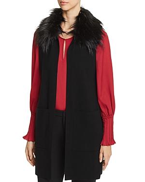 Le Gali Cammie Faux-Fur Trimmed Sweater Vest - 100% Exclusive