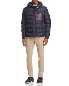 Moncler Prevot Hooded Down Jacket, Maglia Flag Ringer Tee & Skinny Fit Chino Pants - Bloomingdale's_0