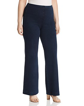 Lyssé Plus - Pull-On Denim Trouser