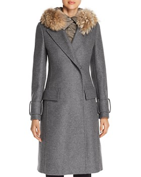 Belstaff - Firdale Fur Trim Long Coat