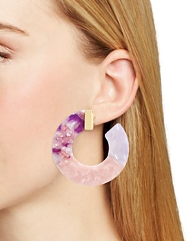 BAUBLEBAR - Dessa Multicolor Resin Hoop Earrings