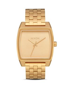 Nixon Time Tracker Gold-Tone Watch, 37mm x 37mm