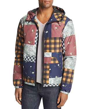 WeSC Patchwork-Print Windbreaker Jacket