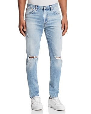 Agolde Blade Skinny Fit Jeans in Cash Blue