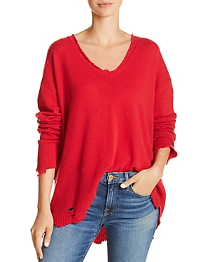 Current/Elliott The Destroyed Drop-Shoulder Sweater