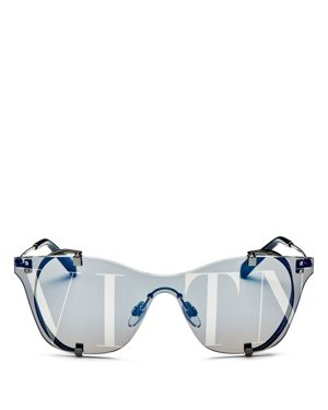 WOMEN'S MIRRORED SHIELD SUNGLASSES, 130MM