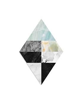 "Art Addiction Inc. - Quadrant Black/White Diamond Wall Art, 30"" x 20"" - 100% Exclusive"