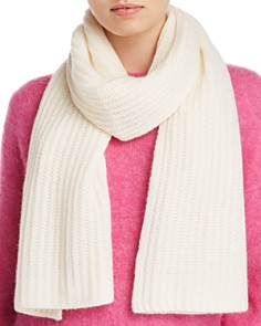 C by Bloomingdale's Chunky Rib-Knit Cashmere Scarf - 100% Exclusive _0