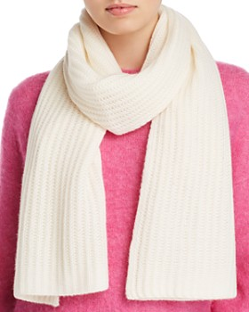 C by Bloomingdale's - Chunky Rib-Knit Cashmere Scarf - 100% Exclusive